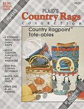 Country Rags Ragpoint Tote-ables Baskets Coiling Purses Plaid Suzanne McNeill