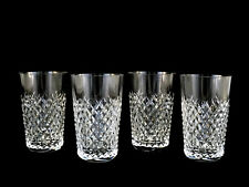 Waterford Crystal Alana 12 Oz Tumblers New Old Stock Set of 4 Mint!