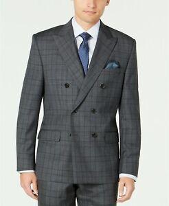 Lauren Ralph Lauren Classic Fit Double Breasted Sport Coat Gray Size 42S