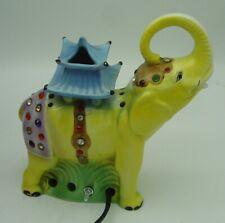 Art Deco porcelain perfume lamp Elephant signed Goebel
