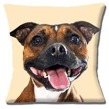 Staffordshire Bull Terrier Dog Cushion Cover 16x16 inch 40cm Staffie Staffy Dog