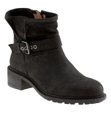 New Banana Republic Maddox Moto Nubuck Leather Bootie Boots, Black, sz 6.5M