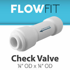 """Straight Check Valve 1/4"""" Fitting Connection for Water Filters / RO Systems"""