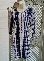 BOOHOO 💋 NEW PURPLE TYE DYE BODYCON STRETCH DRESS UK 14 BOHO HIPPIE ETHNIC