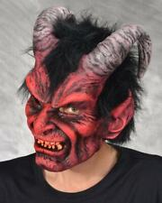 Red Devil Mask Diablo Horns Lucifer Scary Frightening Halloween Costume MB1008