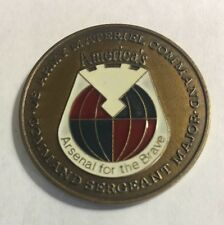United States Army Material Command CSM Challenge Coin F11