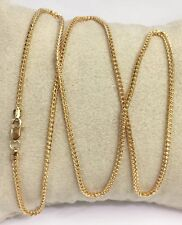 """18k Solid Yellow Gold Italian Franco Chain/Necklace. 18"""". 7 Grams"""