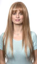 ELLE WIG BLACK BROWN BLONDE AUBURN WOMAN LONG STRAIGHT HAIR W/ BANGS 60S 70S 80S