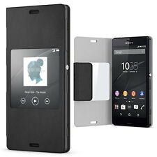 SONY SCR26 STYLE UP FLIP CASE COVER FOR XPERIA Z3 COMPACT IN BLACK - 1287-5829