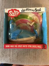 Vintage Salty The Circus Seal Blue Toy Mint In Box Battery Operated 70s Bandai