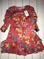 Womens Red Floral Playsuit XS By ZARA
