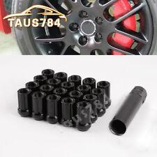 20 Open End Spline Drive Lug Nuts Black 12x1.5 for Honda Accord Civic Fit CR-V