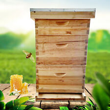 3 Layer Wax Coated Beehive Complete 10 Frame Bee House Kit 505 413 581 Cm