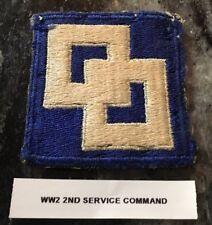 ORIGINAL WW2 U.S. ARMY 2nd SERVICE COMMAND Cut Edge SHOULDER PATCH