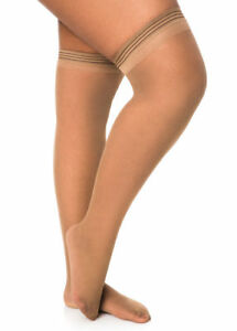 Berkshire Stay Up Thigh Highs City Beige size Queen 1 NEW Style 1590