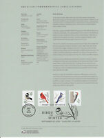 US #5317-20 Birds In Winter Souvenir Page #1830 Commemorative Cancellation Stamp