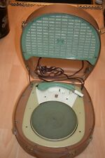 Années 50 60 Philips Kofferplattenspieler Hatbox Phonokoffer Portable 50s 60s