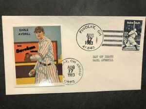 #2046 Baseball Cleveland Indians Earle Averill CF All Star HOF M059 Induction 75