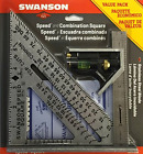 Speed Square Layout Tool with Blue Book and Combination Square Swanson S0101CB