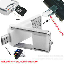 Useful OTG Micro USB SD Card Reader Adapter Kit For Samsung Galaxy S4 S3 PC Tab