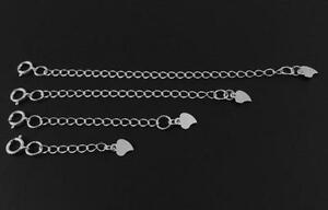 """New high quality sterling silver necklace chain extenders size 1"""", 2"""", 3"""" & 4"""""""