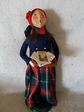 1994Byers Choice Caroler Girl In With Basket Of Cards