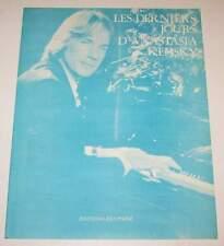 Partition vintage sheet music RICHARD CLAYDERMAN : Les Derniers Jours 70's