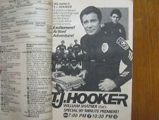 1982 TV Guide(WILLIAM SHATNER/T J. HOOKER/JOHN RITTER/PRISCILLA BARNES/SUSAN DEY