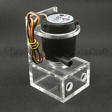 DC 12V Water Pump & Tank Brushless Computer PC CPU Liquid Cooling USA Seller