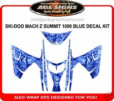 BLUE SKULL SLED WRAP for SKI-DOO MACH Z SUMMIT 1000  mxz decal graphic