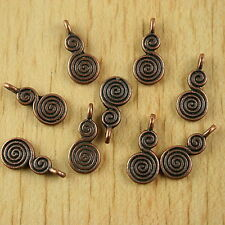 35pcs copper tone spiral snail charms findings H1912