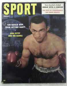 Sport Magazine Feb. 1958 Carmen Basilio - Boxing Cover, Very Good Condition!