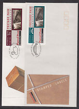 1991 ACROSS TOWN LABLES SET ON FDCs . ****UNADDRESSED****