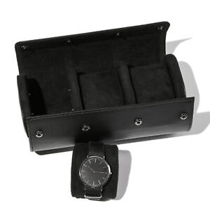 Pillows Display Portable Watch Roll Travel Case PU Leather Watch Case Organizer