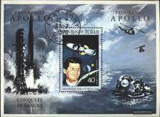 tchad Bloc 14 oblitéré 1971 recherche spatiale