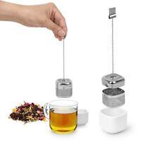2pk Umbra Cutea Nickel Metal Tea Infusers Ceramic Saucers Ball Chain Single Use