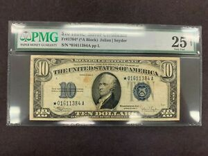USA  10 Dollars  1934 C  -- Silver Certificate STAR -- PMG graded VF 25 net