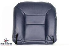 98 99 00 Chevy Silverado K1500 K2500 K3500-Driver Bottom Leather Seat Cover Blue