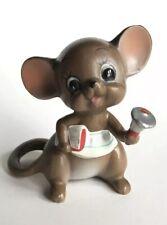 Vtg Old Josef Original Mouse School Teacher with Bell Figurine Figure Japan
