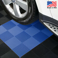 EZ DIY Garage Floor Tiles |Perforated Tiles Blue - USA MADE