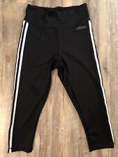 Adidas - Athletic - Black/White - High Waisted - Sz Medium - Climalite