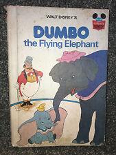DUMBO THE FLYING ELEPHANT Disney BOOK 1978 Vintage WONDERFUL WORLD OF READING