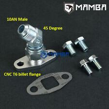 45 Deg 10AN Turbo Oil Return Drain Flange Kit For Precision GEN2 Pro Mod 91