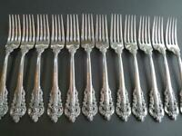 "1 (ONE) WALLACE GRANDE BAROQUE STERLING SILVER FLATWARE DINNER FORK 8"" EXCL-RARE"