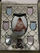 Lenox Childhood Memories Silver First Year Frame - Baby Shower/1st Birthday Nib