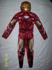 HALLOWEEN COSTUME IRON MAN WITH MASK. 7-8 MED BOYS