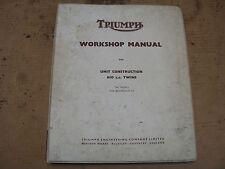 Triumph Workshop Manual Unit Construction 650 Twins1969 123516