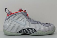 Nike Mens Air Foamposite Pro PRM Size 13 Pure Platinum Grey Crimson 616750 003
