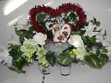 Old Fashion Wife Husband My Valentine Headstone Cemetery Grave Tombstone Saddle