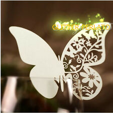 100pz farfalle Segnaposto BIANCA PERLATA bomboniera matrimonio segnatavolo sposa